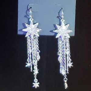 NWOT Vince Camuto silver star earrings